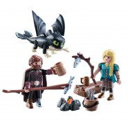 Playset HICCUP and ASTRID With Baby Dragon Original PLAYMOBIL Dragons Dragon Trainer 70040