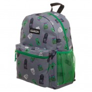 MINECRAFT School GREY and GREEN BACKPACK Big 42x30cm Original OFFICIAL