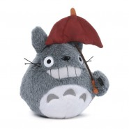 My Neighbour TOTORO Plush 15cm WITH RED UMBRELLA Studio Ghibli OFFICIAL