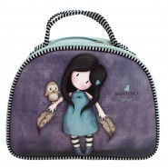 GIRL and OWL Bag 28x21x10cm 2 Handles VIOLET and BLUE  Original SANTORO GORJUSS