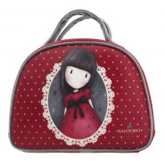 GIRL with RED DRESS Hand Bag 28x21x10cm 2 Handles RED Original SANTORO GORJUSS