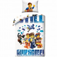LEGO MOVIE 2 Single Bed Set STILL AWESOME Personaggi EMMET Original DUVET COVER 140x200cm Cotton OFFICIAL