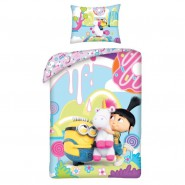 MINION Single Bed Set UNICORN Girl AGNES Original DUVET COVER 140x200cm Cotton OFFICIAL DESPICABLE ME