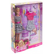 BARBIE Doll and FASHION SET Blonde Original MATTEL FFF59