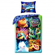 How To Train Your DRAGON Single Bed Set GLOW LIKE A DRAGON Original DUVET COVER 140x200cm Cotton OFFICIAL Hidden World