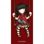 SANTORO Beach Towel RED girl in Seesaw 70x140cm GORJUSS BATH Original New