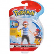 POKEMON Collector BATTLE Figure ASH LAUNCHING PIKACHU 10cm Original WCT