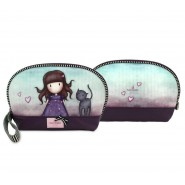 GIRL with CAT Official POCHETTE BAG 23x15x5cm Original SANTORO GORJUSS