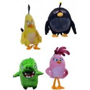 4 Plush ANGRY BIRDS 20cm Characters CHUCK, BOMB, PIG, STELLA Original ROVIO White House