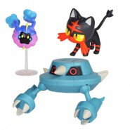 POKEMON Box 3 FIGURES  Metang + Flamiaou + Cosmog Original WCT Battle Figure Set