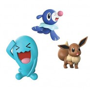 POKEMON Box 3 FIGURES Wobbuffet + Eevee + Popplio Original WCT Battle Figure Set