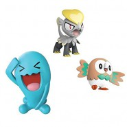 POKEMON Box 3 FIGURES Wobbuffet + Jangmo-o + Rowlet Original WCT Battle Figure Set
