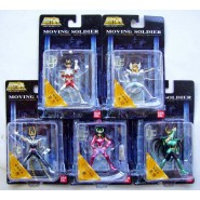 KNIGHTS OF THE ZODIAC Complete Set 5 BRONZE Figures MOVING SOLDIER Part 1 Collection SAINT SEIYA Bandai