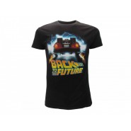 BACK TO THE FUTURE T-Shirt Jersey Black Outatime Car DeLorean Official BTTF