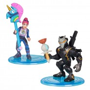 FORTNITE Dual Box 2 FIGURES 5cm Omega + Brite Bomber BATTLE ROYAL COLLECTION Duo Pack Original Unicorn
