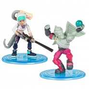 FORTNITE Dual Box 2 FIGURES 5cm Love Ranger + Teknique BATTLE ROYAL COLLECTION Duo Pack Original