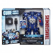 Model Robot OPTIMUS PRIME 15cm TRANSFORMERS ALL SPARK TECH Cube Lights Sounds HASBRO C3479