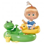 MASHA 12cm Playset with Frog POOL and accessories Originala Masha and the bear