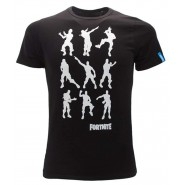 FORTNITE T-Shirt Jersey Black With famous Moves Floss Dance L Dance OFFICIAL Original Videogame Epic Games