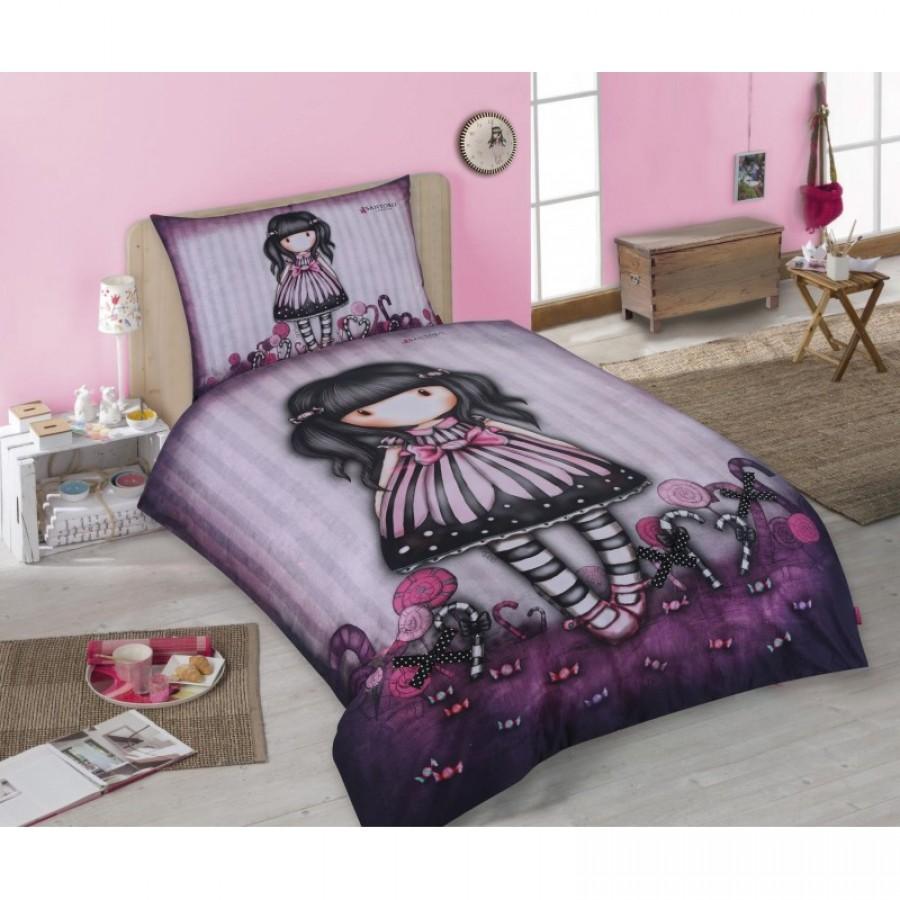 Copripiumino The Walking Dead.Girl Doll With Purple Dress Papillon Single Bed Set Original Santoro Gorjuss Original Duvet Cover 140x200cm Cotton Official