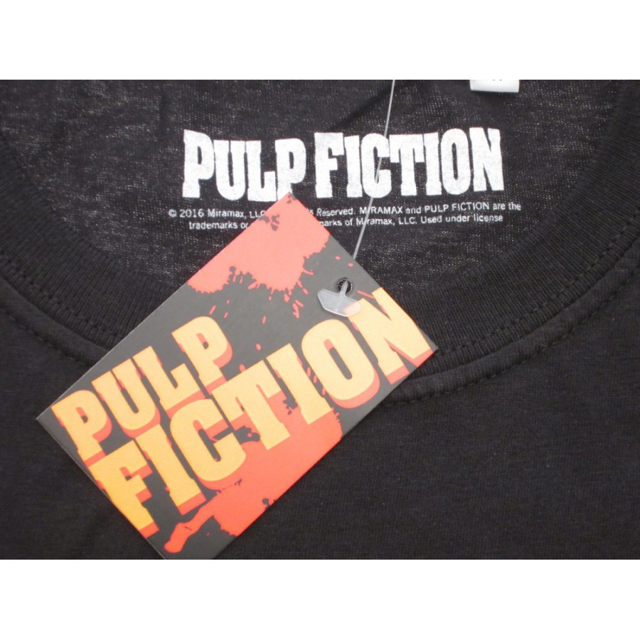 1a1f19d8 ... PULP FICTION T-Shirt Jersey Black With Girl Mia Wallace OFFICIAL  Original Movie Tarantino Uma ...