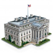 Puzzle 3D THE WHITE HOUSE 490 PIECES Official WREBBIT American Icons Collection