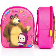 Backpack MASHA AND THE BEAR Baby 3D Design Size 31x25x12cm ORIGINAL Officiale