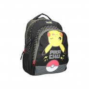 POKEMON Backpack PIKACHU Pokeball ELECTRIC Big Size 44x34x15cm ORIGINAL Official