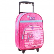 Backpack With Trolley PEPPA PIG Be Happy Size 38x28x16cm ORIGINAL Official SCHOOL SPORT