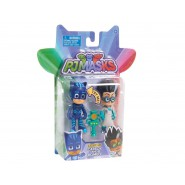 PJ MASKS Box 2 Figures 8cm CARBOY with LIGHT and ROMEON Original