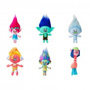 TROLLS Hasbro Full COMPLETE SET 6 Different PLUSHIES 20-30cm Characters from TROLLS Movie Original