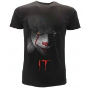 IT Clown Face T-Shirt Jersey Black Stephen King Movie 2017