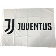 Juventus BIG FLAG LOGO JJ Color WHITE Size 130x95cm OFFICIAL Original