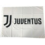 Juventus BIG FLAG LOGO JJ Color WHITE Size 130x95cm OFFICIAL Original