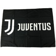 Juventus BIG FLAG LOGO JJ Color BLACK Size 130x95cm OFFICIAL Original