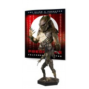 MASKED PREDATOR Rare Figure Metallic Resin from Predator 13cm Scale 1/16 Serie Eaglemoss HERO Collector Num 22