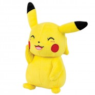 POKEMON PIKACHU Hand up Closed Eyes Plush 20cm (8'') tall ORIGINAL Tomy