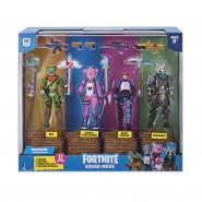 FORTNITE SQUAD MODE Box 4 FIGURES 12cm Rex + Cuddle Team Leader + Brite Bomber + Ragnarok BATTLE ROYAL Original