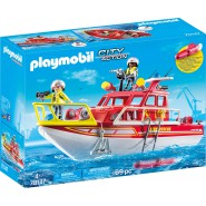 Playset FIRE FIGHTERS BOAT Playmobil City Action 70147