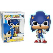 SONIC With Ring Collectible Figure THE HEDGEHOG Glow in The Dark 10cm Funko POP 283