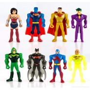 COMPLETE SET 8 Mini Figures 5cm JUSTICE LEAGUE Mighty Minis Series 2 Characters Trading Figures CAKE TOPPERS