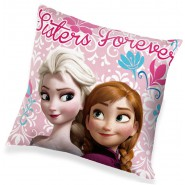 FROZEN Anna Elsa SISTERS Forever CUSHION Squared PINK 35x35cm Original DISNEY