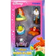 LITTLE MERMAID Box STORY Pack Complete SET 5 Figures 6cm ARIEL ERIC URSULA Sebastian Flounder Originali Disney TOMY