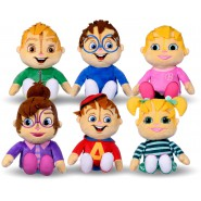 ALVIN And Chipmunks COMPLETE SET 6 PLUSHIES Big 30cm Theodore Simon Brittany Jeanette Eleanor Original WhiteHouse