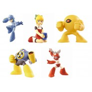 ROCKMAN SET 5 FIGURE Collection 5cm MEGAMAN Roll Cut Man Air Man Yellow Devil Gashapon TOMY Japan