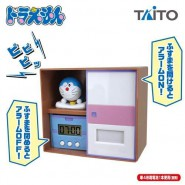 ALARM CLOCK DORAEMON Closet 13cm Cartoon Space Cat TAITO Japan