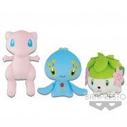SET 3 Plushes POKEMON 30cm MEW SHAYMIN MANAPHY Mythical Series ORIGINAL Banpresto