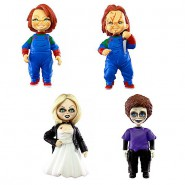 CHUCKY Child's Play SET 4 FIGURES Tiffany Glen NORMAL Version Collection 5cm Gashapon Keychain TOMY Japan