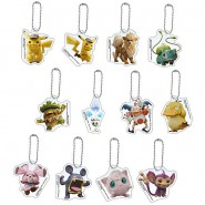 POKEMON DETECTIVE PIKACHU Set 12 KEYCHAIN Collection 5cm Arcanine Bulbasaur BANDAI