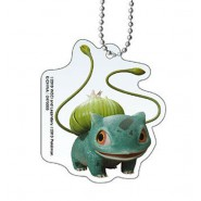 BULBASAUR POKEMON Keychain From DETECTIVE PIKACHU Collection 5cm BANDAI